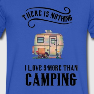 There is Nothing I love S'more than Camping - Men's V-Neck T-Shirt by Canvas