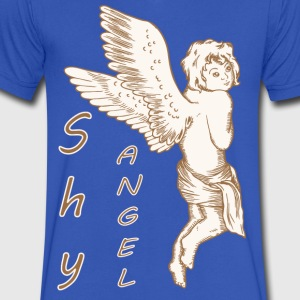 Shy Angel with Wings - Men's V-Neck T-Shirt by Canvas