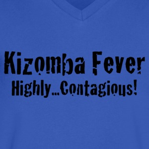 Kizomba Fever Highly Contagious! - Men's V-Neck T-Shirt by Canvas