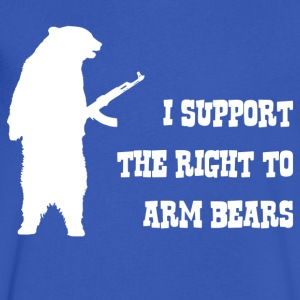 I Support The Right To Arm Bears - Men's V-Neck T-Shirt by Canvas
