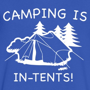 Camping Is In Tents - Men's V-Neck T-Shirt by Canvas