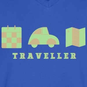 CREATIVE DESIGN || TRAVELLING - Men's V-Neck T-Shirt by Canvas