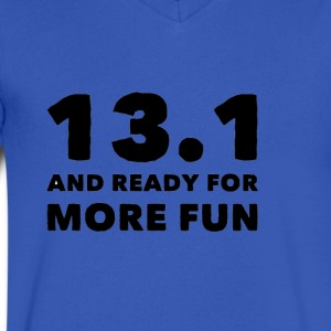 13 1 ready for fun - Men's V-Neck T-Shirt by Canvas