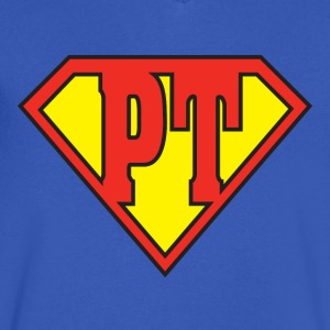 PT Super Hero - Men's V-Neck T-Shirt by Canvas