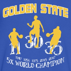 GOLDEN STATE CHAMPIONS 2017 - Men's V-Neck T-Shirt by Canvas