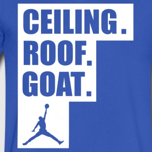 ceiling roof goat shirt - Men's V-Neck T-Shirt by Canvas