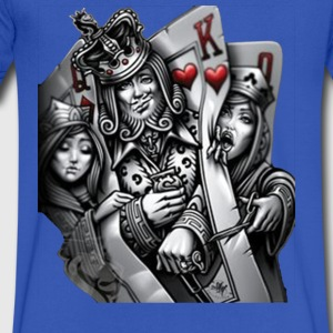 card poker - Men's V-Neck T-Shirt by Canvas