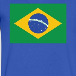 Flag of Brazil Cool Brazilian Flag - Men's V-Neck T-Shirt by Canvas