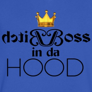 Bitch Boss in da Hood - Men's V-Neck T-Shirt by Canvas