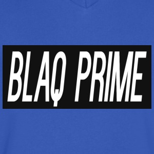 Blaq Prime Box Logo - Men's V-Neck T-Shirt by Canvas