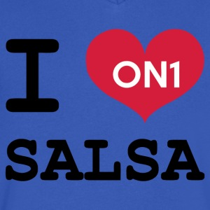 I Love Salsa On 1 - Men's V-Neck T-Shirt by Canvas