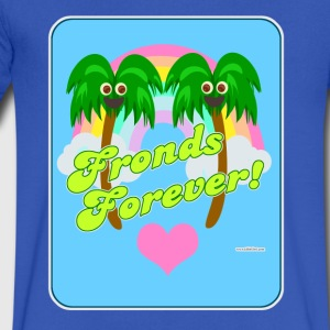Fronds Forever - Men's V-Neck T-Shirt by Canvas