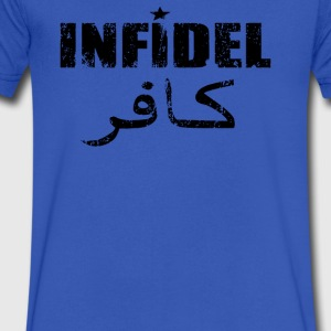 Details about Infidel - Men's V-Neck T-Shirt by Canvas