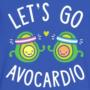 Let's Go Avocardio | Cute Avocado Pun - Men's V-Neck T-Shirt by Canvas