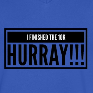 I finished a 10K hurray - Men's V-Neck T-Shirt by Canvas