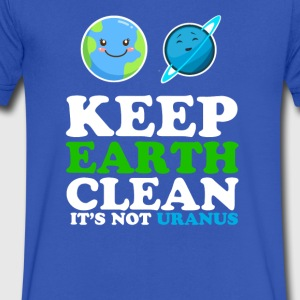 Earth day funny - Men's V-Neck T-Shirt by Canvas