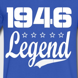 46 legend - Men's V-Neck T-Shirt by Canvas