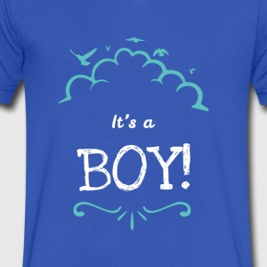 It's A Boy Statement Cute Novelty Clothing Apparel - Men's V-Neck T-Shirt by Canvas