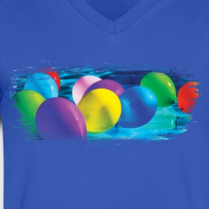 Party Balloon Artistic Swash - Men's V-Neck T-Shirt by Canvas