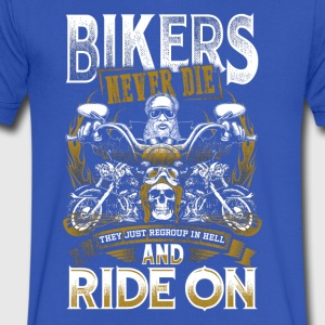 Bikers Never Die They Just Regroup In Hell - Men's V-Neck T-Shirt by Canvas