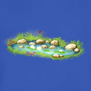 garden pond pool plants - Men's V-Neck T-Shirt by Canvas