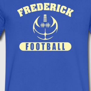 Frederick Warrior Football - Men's V-Neck T-Shirt by Canvas