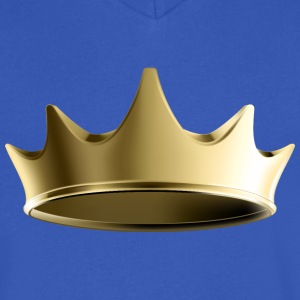 King Golden Royal crown - Men's V-Neck T-Shirt by Canvas