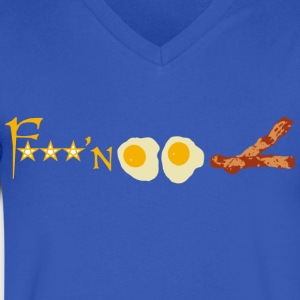 F'n Eggs Bacon - Men's V-Neck T-Shirt by Canvas