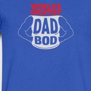 World's Greatest Dad Bod - Men's V-Neck T-Shirt by Canvas
