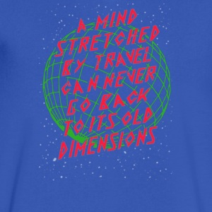 A mind stretched ry travel can never go back - Men's V-Neck T-Shirt by Canvas