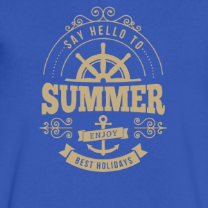 say hello to Summer holidays - Men's V-Neck T-Shirt by Canvas
