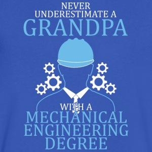 Mechanical Engineering Grandpa T Shirt - Men's V-Neck T-Shirt by Canvas
