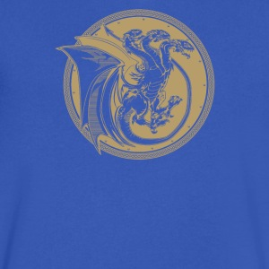 Triple Dragon - Men's V-Neck T-Shirt by Canvas