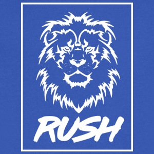 RUSH LION - Men's V-Neck T-Shirt by Canvas