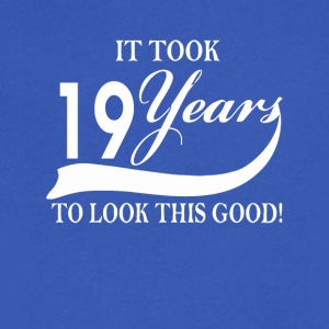 It took 19 years to look this good - Men's V-Neck T-Shirt by Canvas