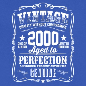 Vintage 2000 Aged to Perfection - Men's V-Neck T-Shirt by Canvas