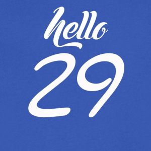 Hello 29 - Men's V-Neck T-Shirt by Canvas