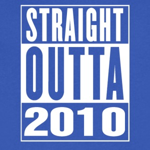 Straight Outa 2010 - Men's V-Neck T-Shirt by Canvas