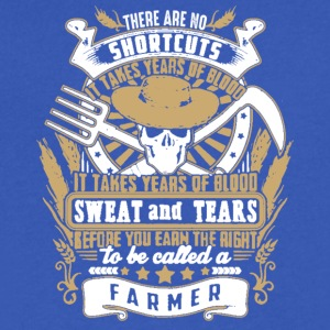 FARMER SHORTCUTS SHIRT - Men's V-Neck T-Shirt by Canvas