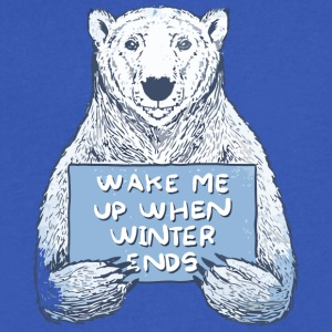 Wake Me Up When Winter Ends - Men's V-Neck T-Shirt by Canvas