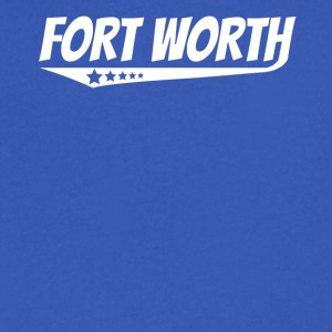 Fort Worth Retro Comic Book Style Logo - Men's V-Neck T-Shirt by Canvas