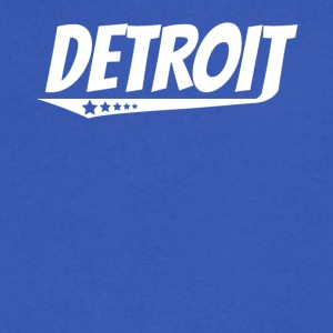 Detroit Retro Comic Book Style Logo - Men's V-Neck T-Shirt by Canvas