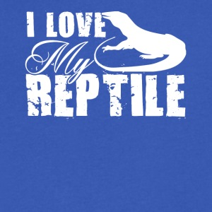 I Love My Reptile Shirt - Men's V-Neck T-Shirt by Canvas