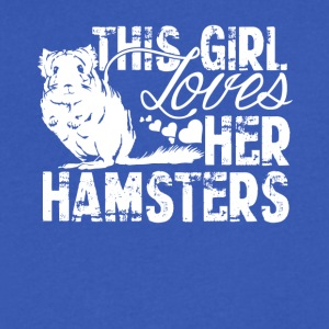 Girl Loves Her Hamsters Shirt - Men's V-Neck T-Shirt by Canvas