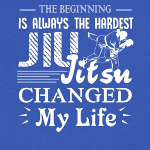 Jiu Jitsu Changed My Life Shirt - Men's V-Neck T-Shirt by Canvas