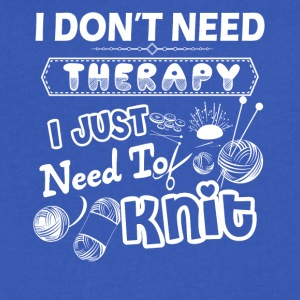 Knit Therapy Shirt - Men's V-Neck T-Shirt by Canvas