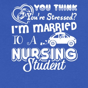 Nursing Student Spouses Shirt - Men's V-Neck T-Shirt by Canvas