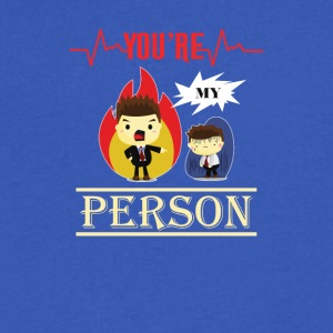 You are my person - Men's V-Neck T-Shirt by Canvas