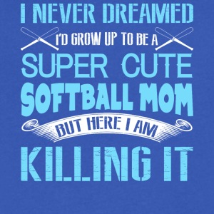 I'd Grow Up To Be A Super Cute Softball Mom TShirt - Men's V-Neck T-Shirt by Canvas