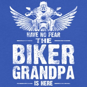 Have No Fear The Biker Grandpa Is Here T Shirt - Men's V-Neck T-Shirt by Canvas